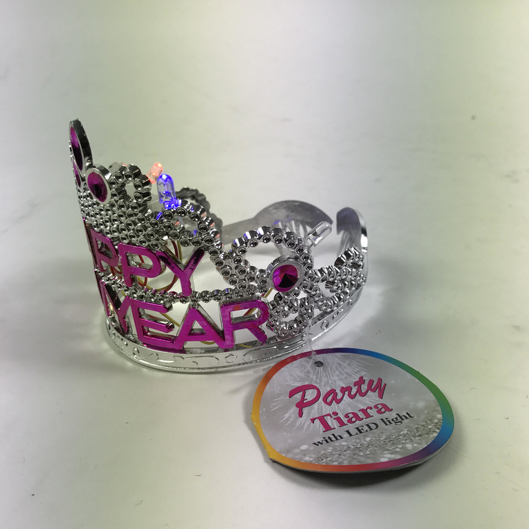 25301 - Party Tiara, LED Light: Happy New Year Europe