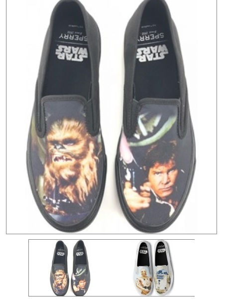 31462 - SPERRY MENS STAR WARS SLIP ONS SHOES USA